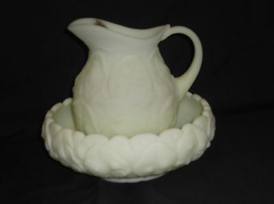 Fenton Water Lily Pitcher and Bowl Set
