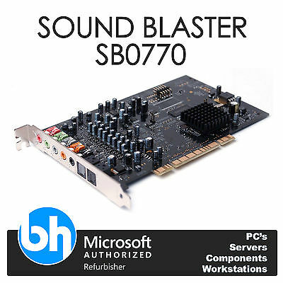 Dell Sound Blaster Creative Labs X-Fi SB0770 PCI Internal Sound Card 0WW202