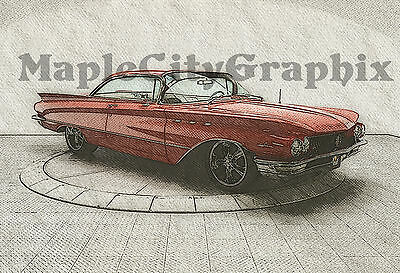 1960 Buick LeSabre Classic Muscle Car 13x19 Poster High Definition Art Print