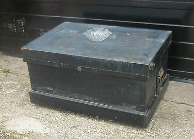 Vintage Industrial Wooden CHEST, Coffee TABLE, Storage TRUNK