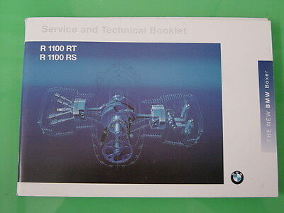 Genuine Bmw R1100Rt /rs Service And Technical Booklet