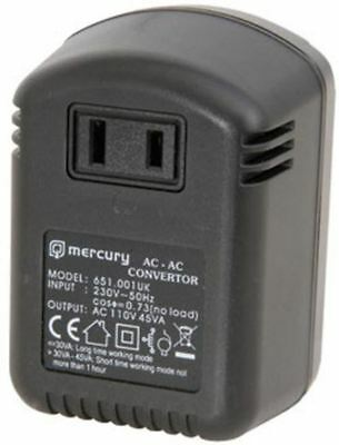 Brand New Mercury UK Step Down Voltage Converter 30V-110V, 45W Max.