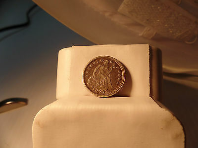 1853  SEATED LIBERTY  DIME GRADE XF SEATED  DIME with arrows