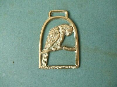 Horse Brass Featuring A Parrot In Stirrup.