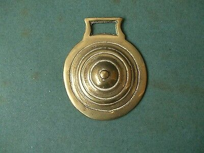 Horse Brass Featuring A Ring Pattern As Centre