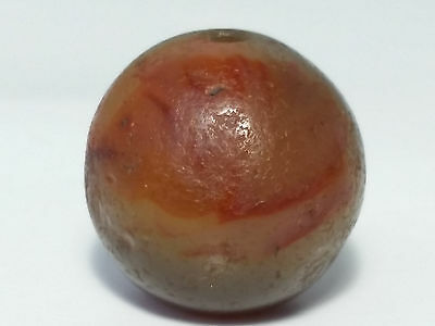16.2mm ANCIENT RARE BANDED WESTERN ASIAN AGATE BEAD