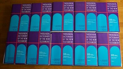 Theological Dictionary of the New Testament by Kittel 10 volume hardback set