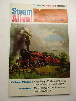 IAN ALLAN Nu 1 STEAM ALIVE TRAINS ILLUSTRATED PRESERVED EXPRESS STEAM 3/-