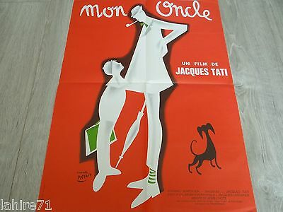 jacques tati : MON ONCLE  ! ( mr. hulot ) my uncle affiche cinema pierre etaix