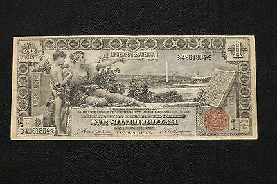 """Fr. 224 1896 $1 One Dollar """"educational"""" Silver Certificate Currency Note K412"""