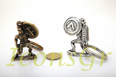 Ancient Greek Vintage Zamac Spartan Miniature Keyrings 300 Leonidas King Sparta