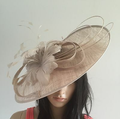Nigel Rayment MUSHROOM WEDDING OCCASION DISC HAT SALE MOTHER OF THE BRIDE