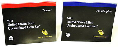 2011 Denver Philadelphia US Mint Uncirculated 28 Coin Set Quarters & Dollars