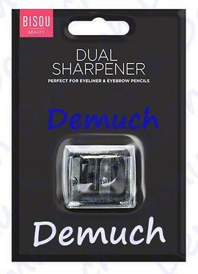 New Cosmetics Dual Double Make Up Pencil Eyeliner Sharpener Two Size Clear UK ✔
