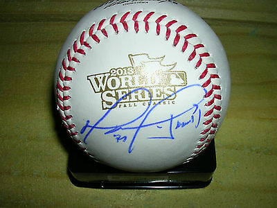 Authentic DAVID ORTIZ 2013 Official World Series Baseball Signed w/MVP Autograph