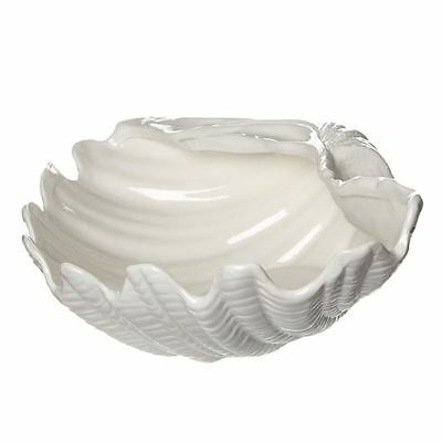 Lovely Large Ceramic Shell Display Plate Bowl - Soap Keys Jewellery Storage Gift