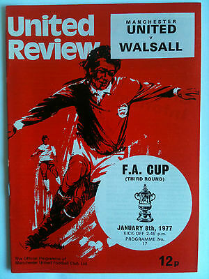1976/77 Manchester United v Walsall FA Cup 3rd Rd