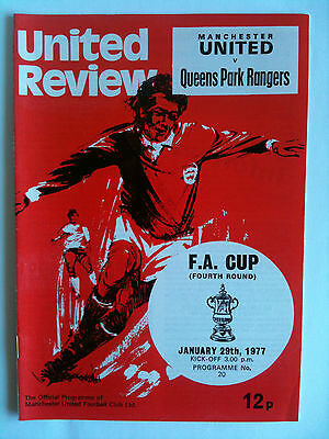 1976/77 Manchester United v Queens Park Rangers FA Cup 4th Rd