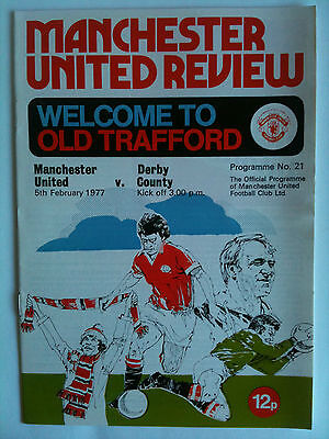 1976/77 Manchester United v Derby County 1st Division