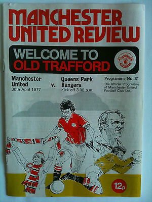 1976/77 Manchester United v Queens Park Rangers 1st Division