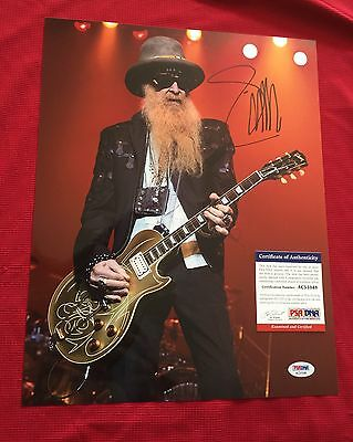 BILLY GIBBONS ZZ TOP SIGNED 11x14 PSA/DNA AC51048 W PROOF
