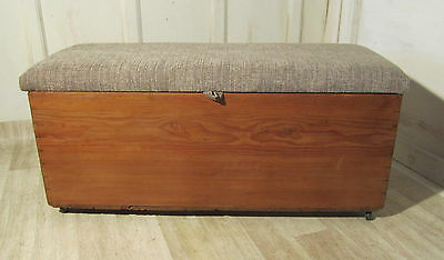 Victorian Pine Ottoman, Blanket Toy Box Linen Chest