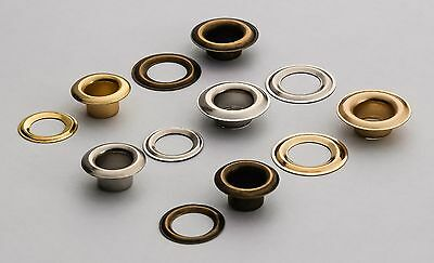 Eyelets & Washers 8 x 15mm, 10 x 18mm Grommets Banners, Crafts High Quality