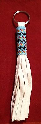 Awesome Native American Lakota Sioux Beaded Leather Keychain