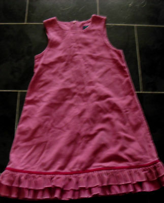 Girls Mini Boden pink cord cotton Dress Age 7-8 years