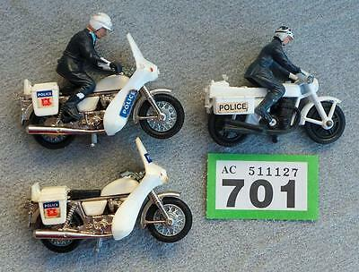 G701  Britains  Police motorcycles X 2 + Matchbox Police motorcycle