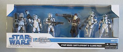 Nib 2008 Hasbro Star Wars Legacy Battlefront Ii Clone Pack Action Figures