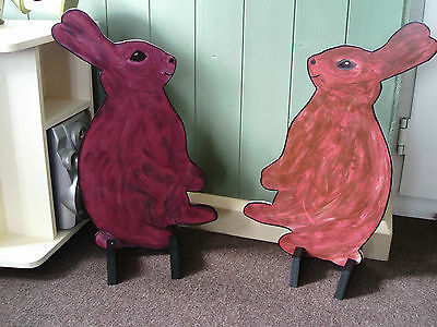 2 x RABBITS shaped Horse show jump fillers or wings pony show farm events