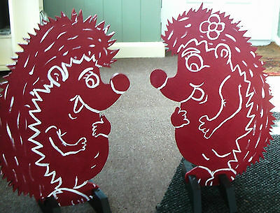 2 x HEDGEHOG shaped Horse show jump fillers or wings pony show farm events