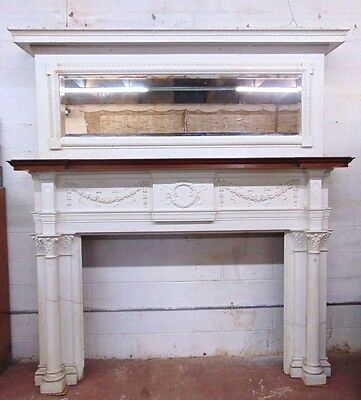 Antique Cypress Fireplace Mantel Fabulous New Orleans  Architectural Salvage ~