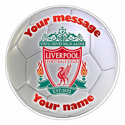 """LIVERPOOL - Personalised Party Cake Topper Edible print on icing 7.0"""" 18 cm"""