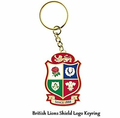2017 British & Irish Lions Rugby Tour Shield Keyring - New Zealand Tour