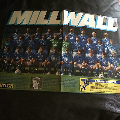 Team Group Photo Poster - Millwall  1988-89 Issued By Match