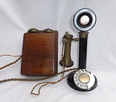 Vintage GPO Candle Stick Telephone 150 + No.1 Bell Box
