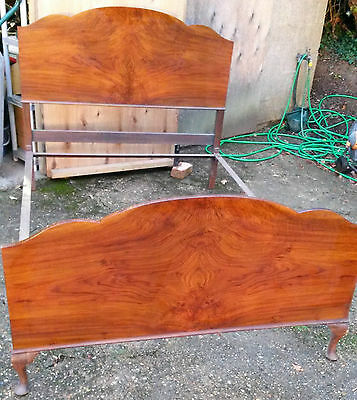 Vintage Vono Double Bedstead, Headboard, Footboard and Rails
