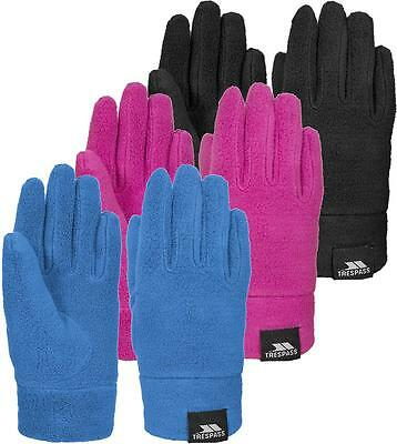 Trespass Lala II Kids Fleece Gloves Girls Boys Winter Glove