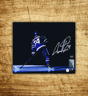 Auston Matthews Autographed 8×10 Photo CoJo COA