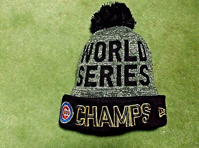 World Series Champs Chicago Cubs Beanie Hat Cap New Era New With Tags 80258559069