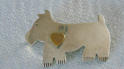 SILVER .925 DOG Pin Brooch Epinglette CHIEN Argent .925