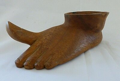 Vintage Wooden Foot Ashtray UNUSUAL TO SAY THE LEAST!!