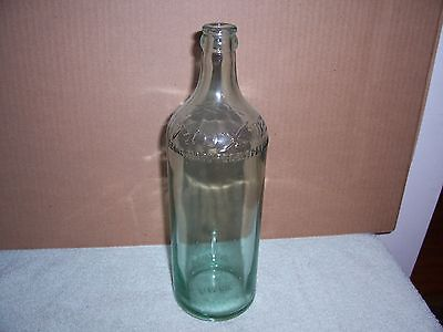 Vintage Green Moxie Bottle 10 1/2 In Tall Super Clean No Cracks Or Chips