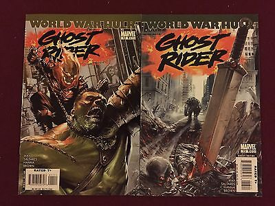 Marvel Ghost Rider 12 and 13 Aug Sept 2007 Hulk Dell Otto Covers Pair Set World