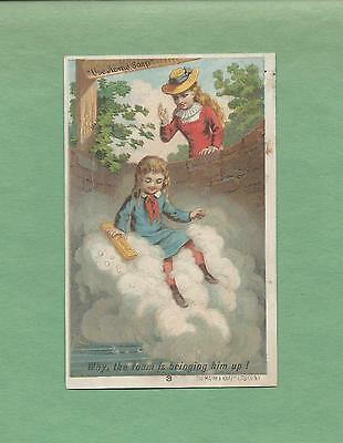 GIRL SAVES BOY FROM WELL On LAUTZ BROS. SOAP Victorian Trade Card