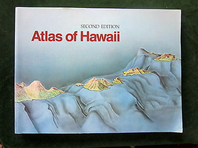 ATLAS of HAWAII 2nd Ed. 238p Good Research Book Everything You'd Want to Know
