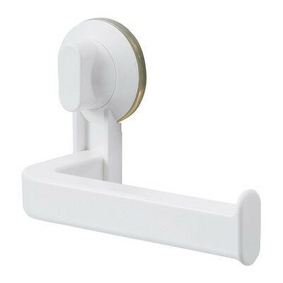IKEA Toilet Paper Roll Holder With Suction Cup, White Plastic Bathroom  New