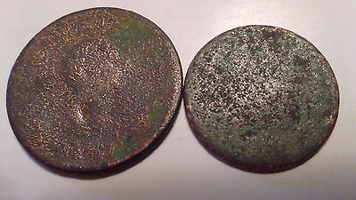 cull ugly corroded green half cent penny usa uk